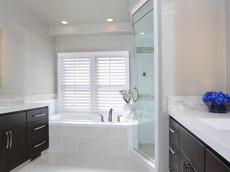 white bathroom counters