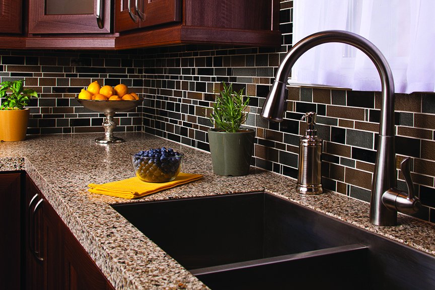 kitchen counter and tile