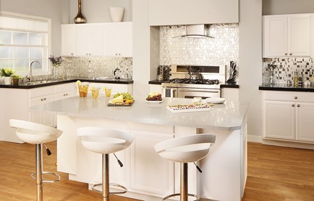light kitchen island