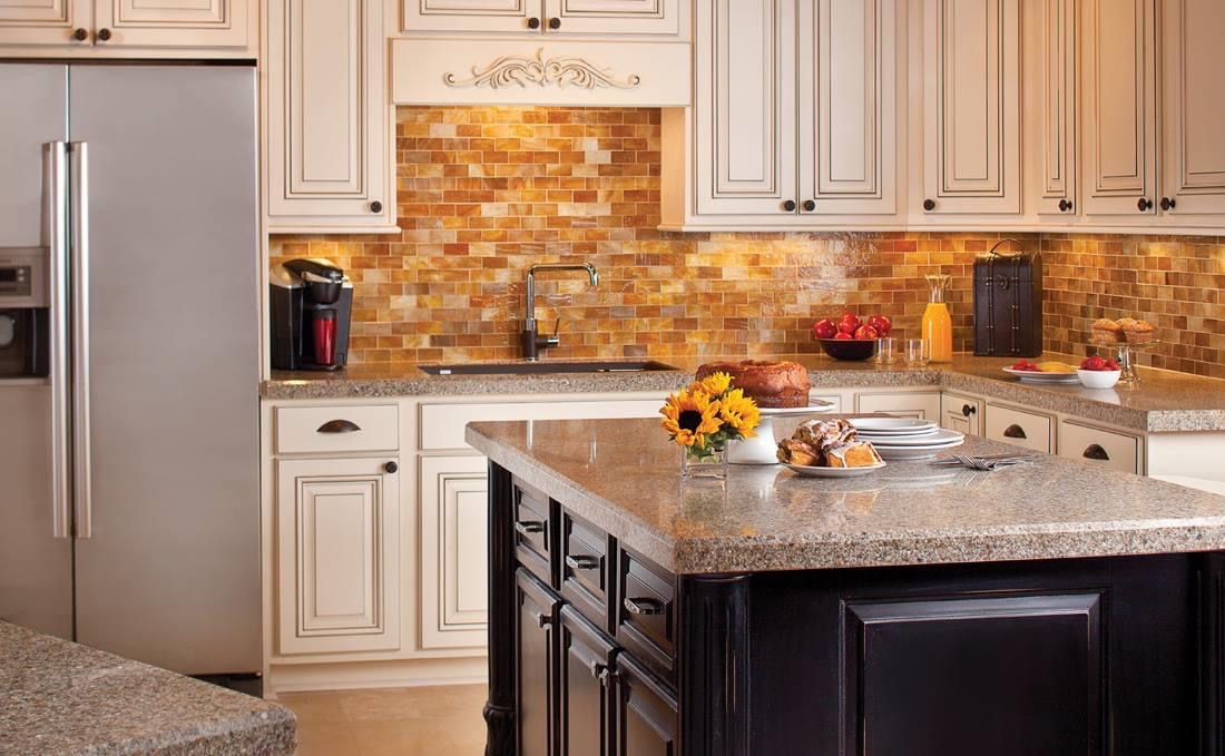 kitchen with granite and tile