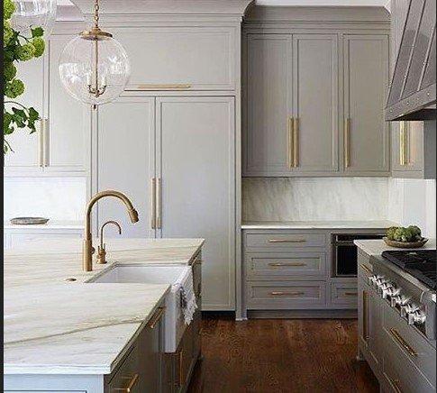 dramatic white kitchen