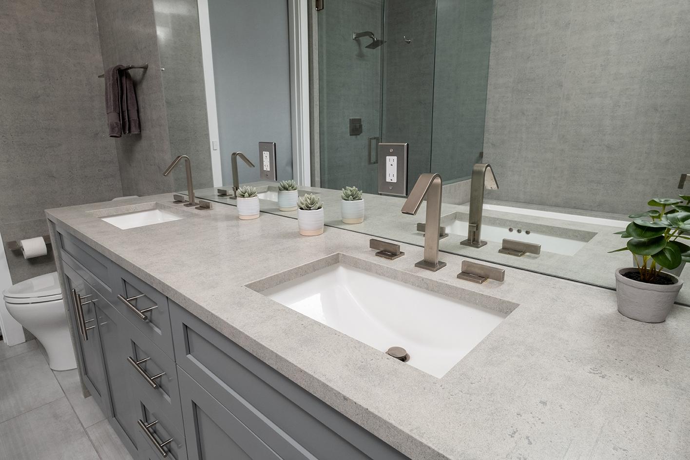 thick granite bathroom counter