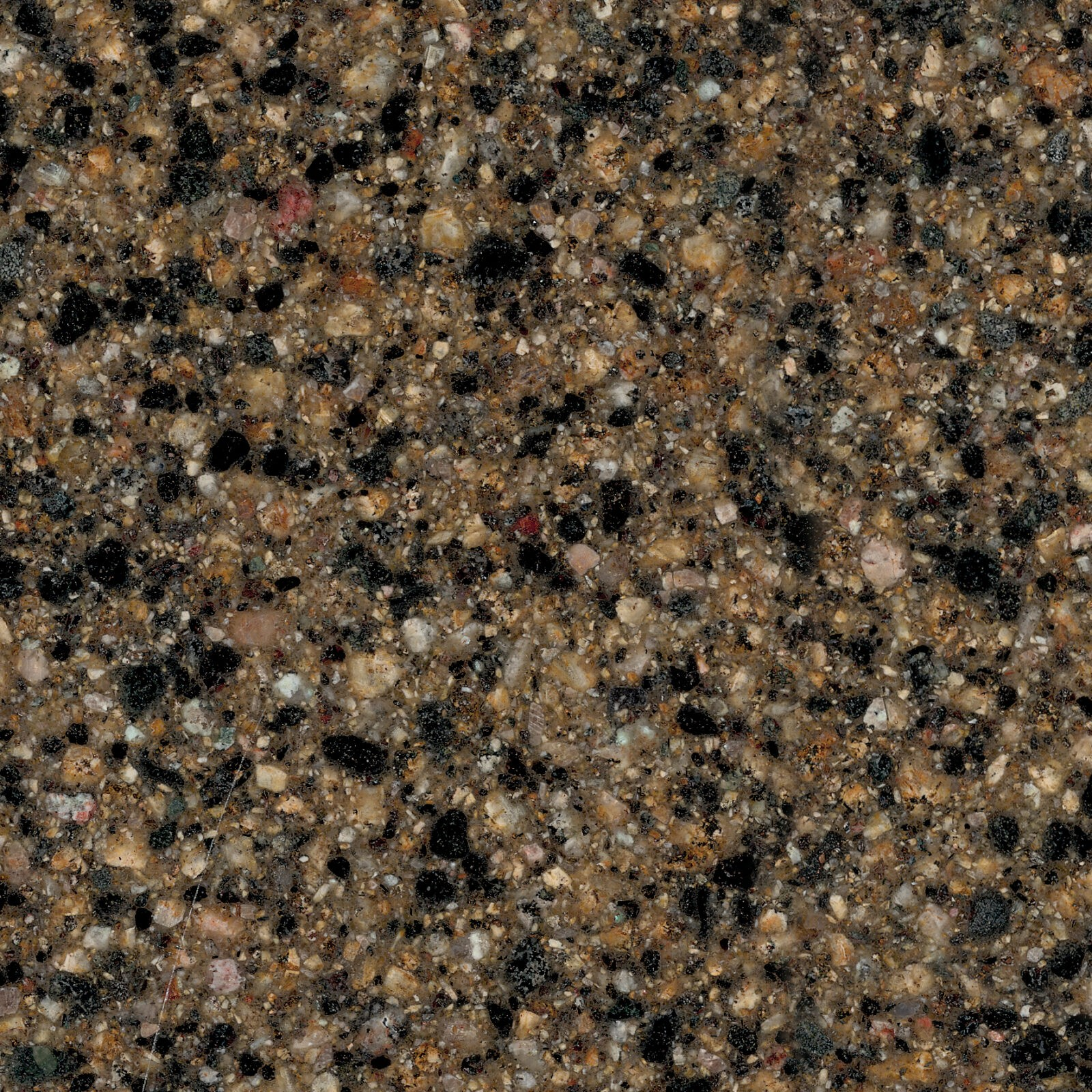 Terra Ombra - Black and Gray Granite Countertop