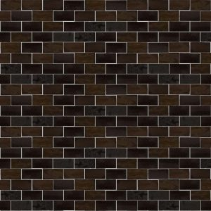 dark brown subway tile