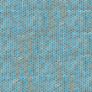 light blue hexagon tile