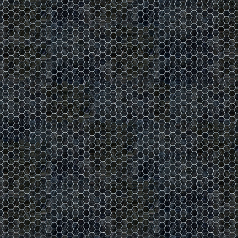 black hexagon tile