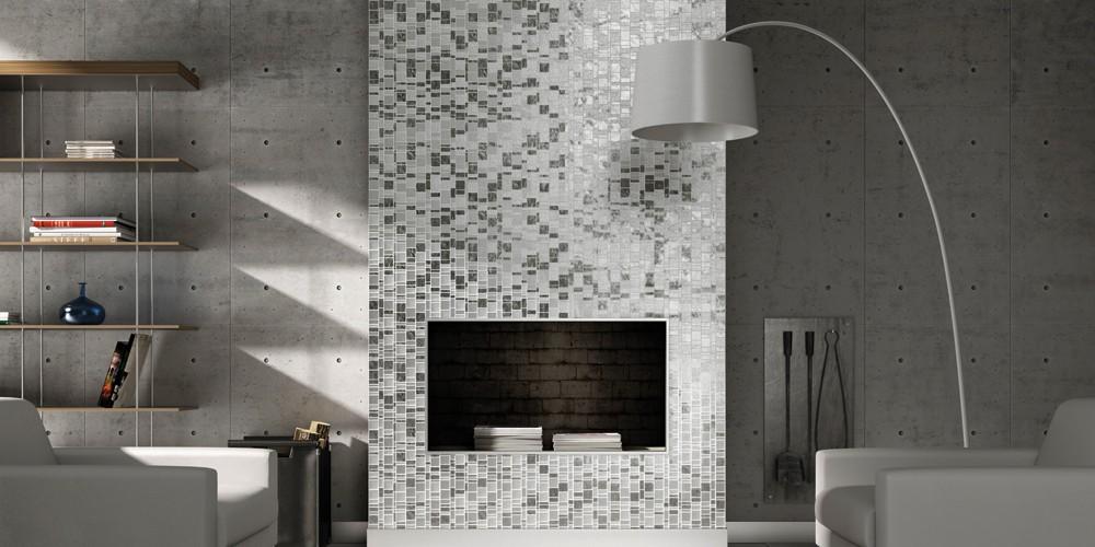 mosaic fireplace surround