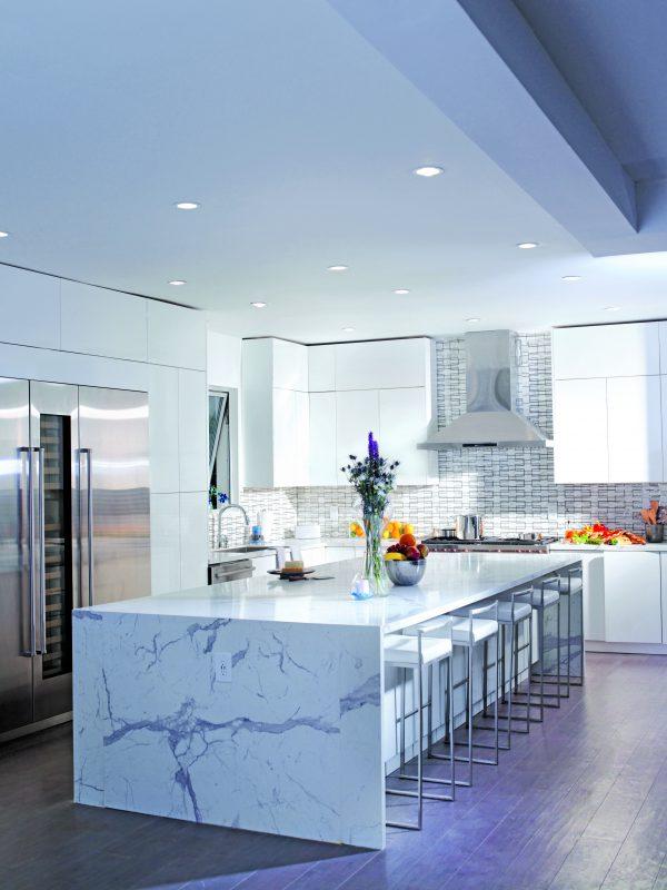 Granite kitchen island.