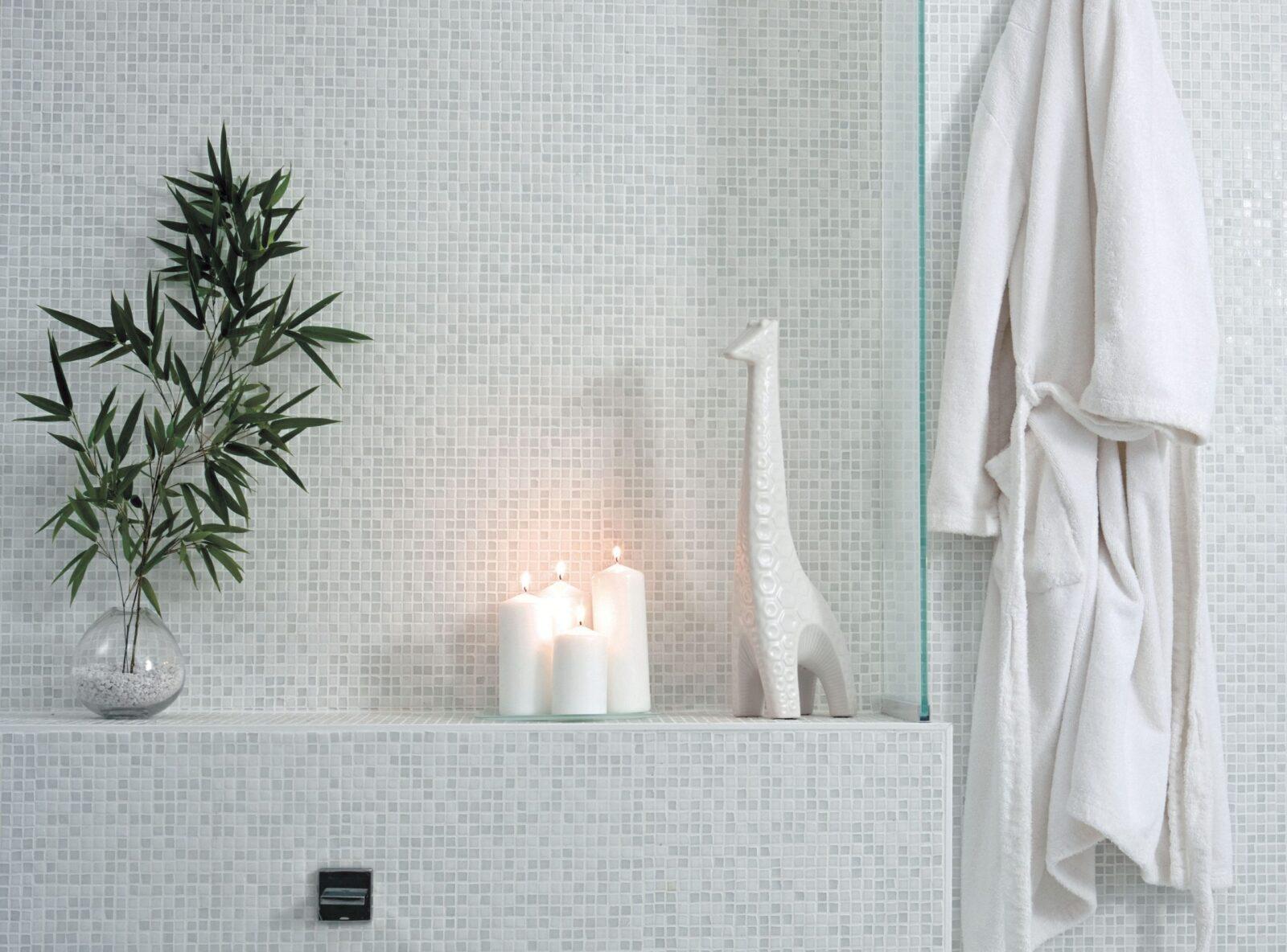 tiled bathroom wall