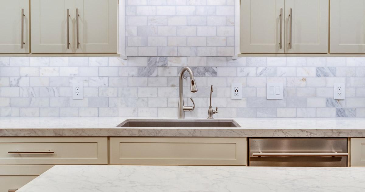 Backsplash Design Ideas For The Kitchen White Mosaic Subway Tile