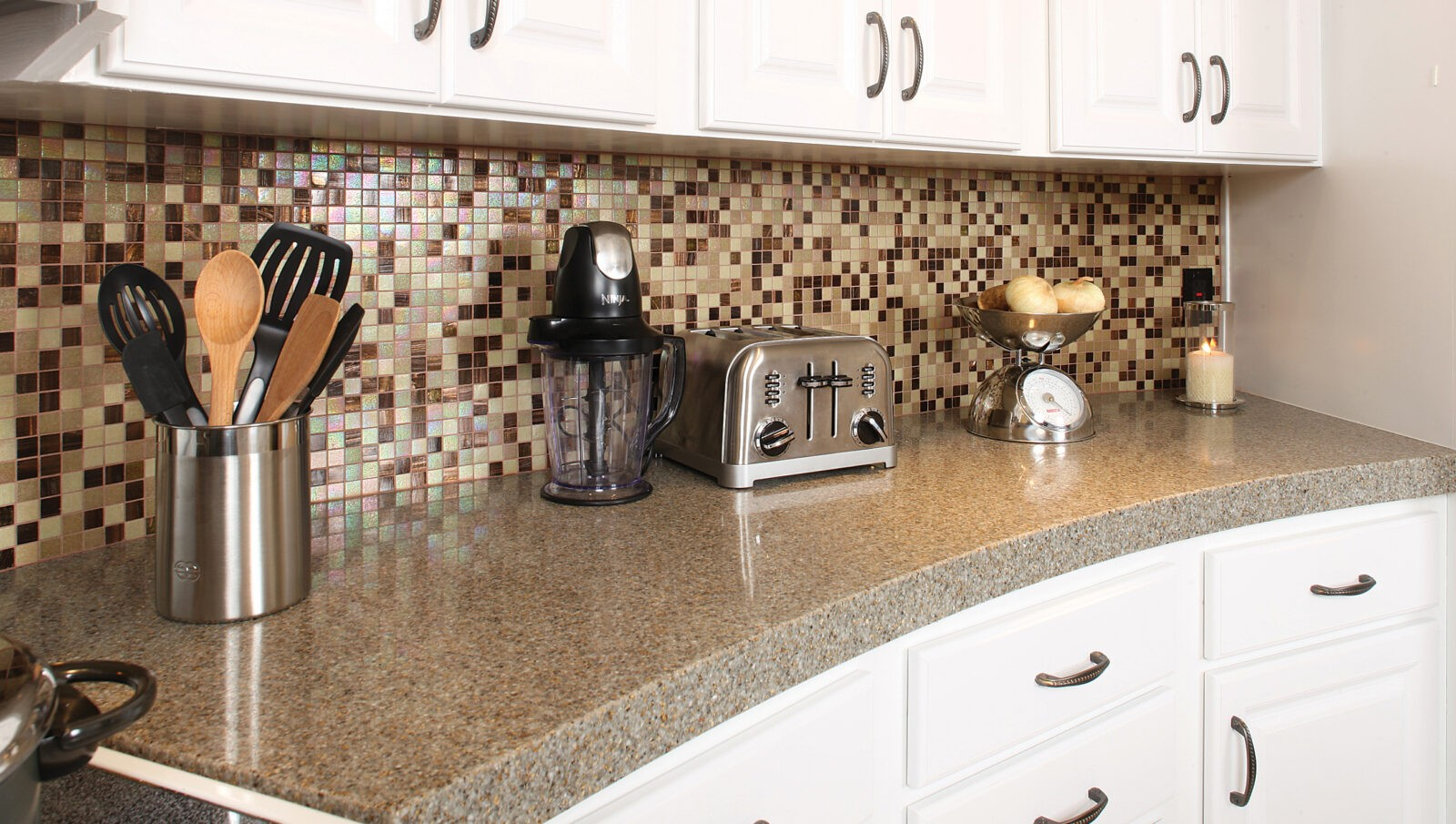 rounded kitchen counter