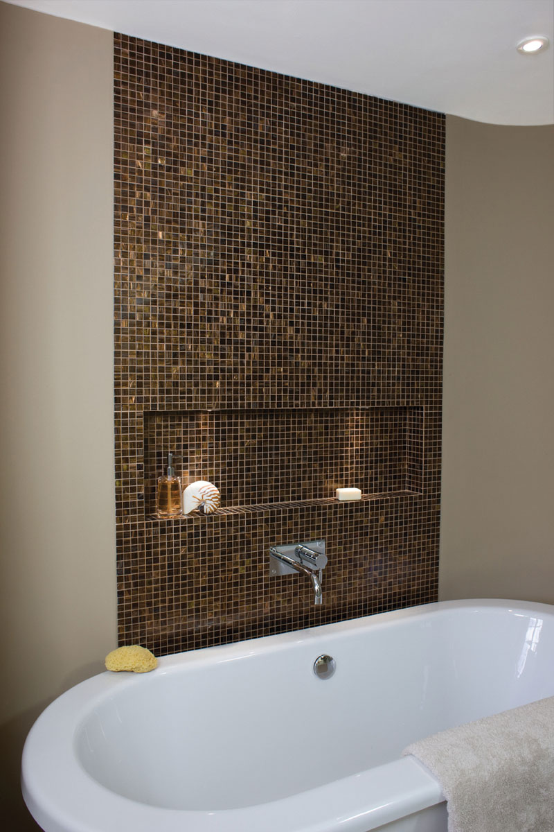 Traditional mosaic tile by Granite Transformations
