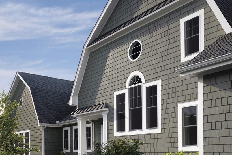 Fiber-cement & vinyl siding is a maintenance-free exterior siding option.