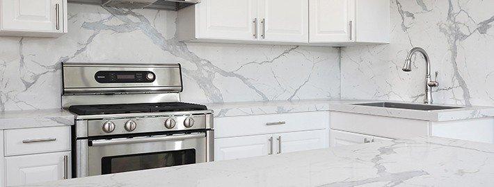GT Statuario Marble Kitchen