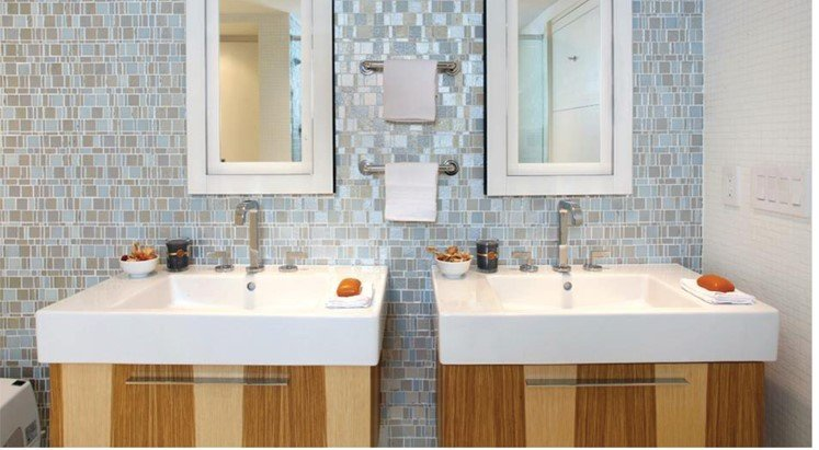 Mosaic Tile Feature Wall