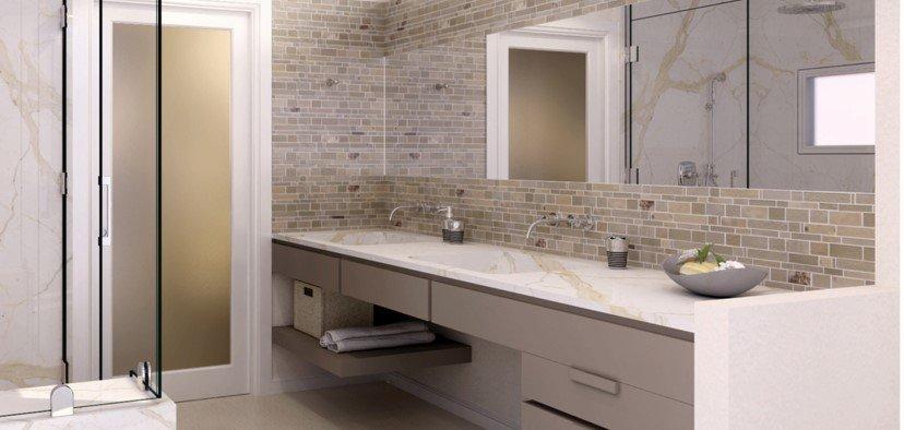 Neutral palate bathroom