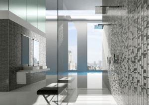 Homeowners are enjoying multi-head showers because they can be sprayed from all angles.