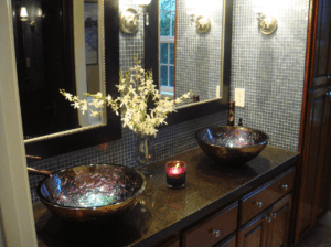 Quartz vanities and bath tops are becoming a standard choice for homeowners.
