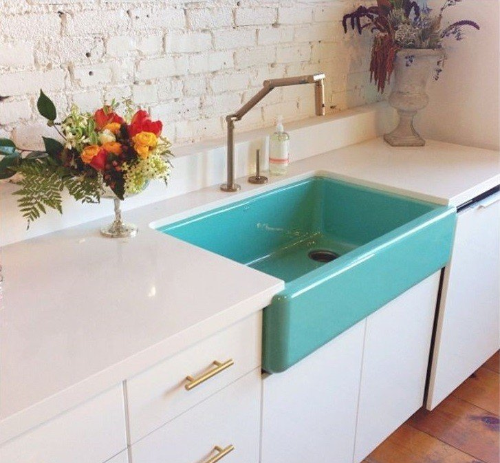 Colored Sinks Add A Pop Of Color