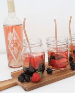 Rose Wine Cocktail Sangria