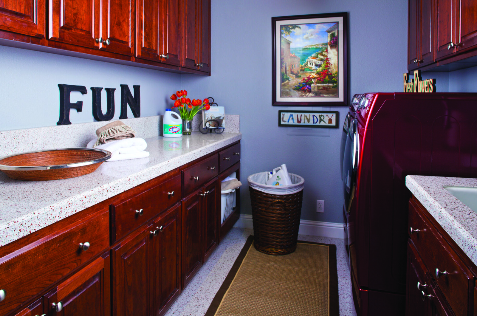Convert an unused space into a laundry room for added value.