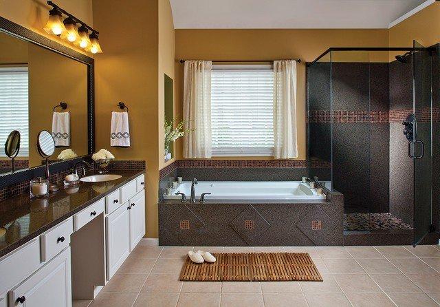 Engineered Granite Tropico Paired With Excalibur Mosaic Tiles