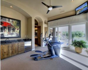 A home gym is the perfect way to transform your new found space.