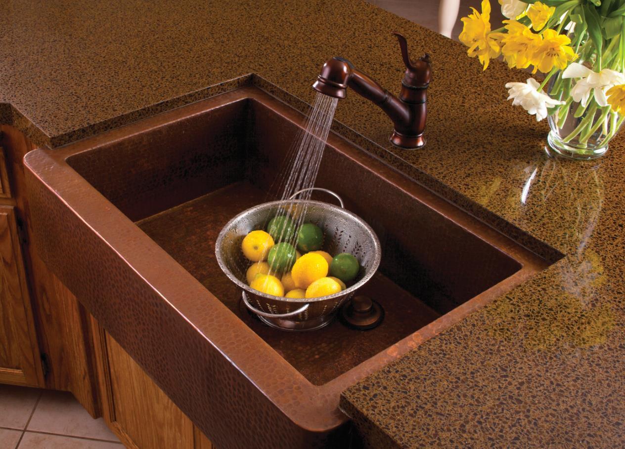 Enamel Coated Cast Iron Sinks may Scratch & Wear.