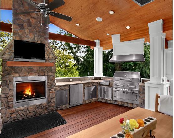Hot Design Trend Outdoor Fireplaces Granite
