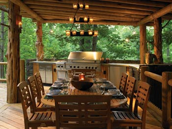 A Sit Down And Dine Outdoor Space.