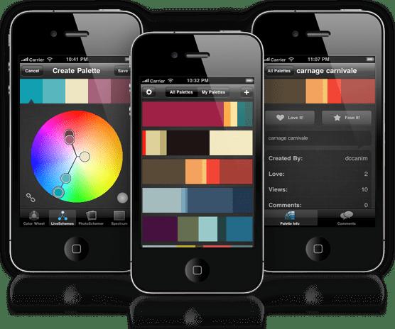 ColorSchemer Touch Screenshots.