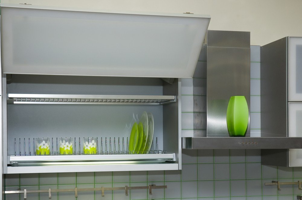 High Tech Cabinetry With Hydraulics and Easy Close Doors