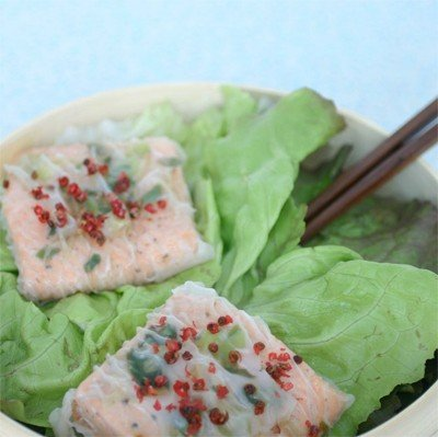Steamed Ginger Salmon and Warm Citrus Sauce