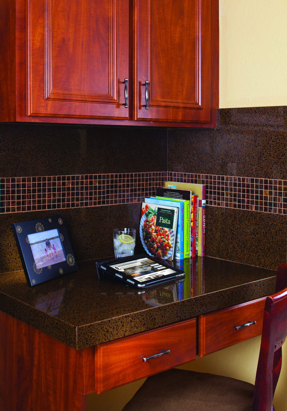 This nook offers value by providing additional storage space and a place for homework, by Granite Transformations.