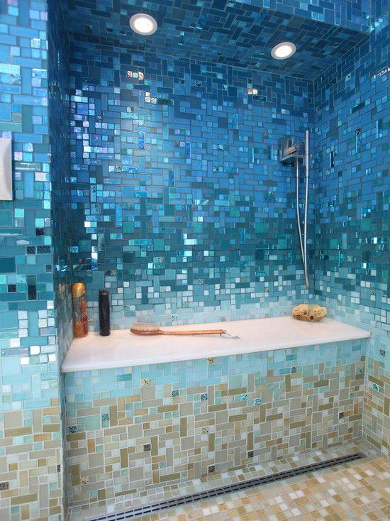 Mosaic tile gradients