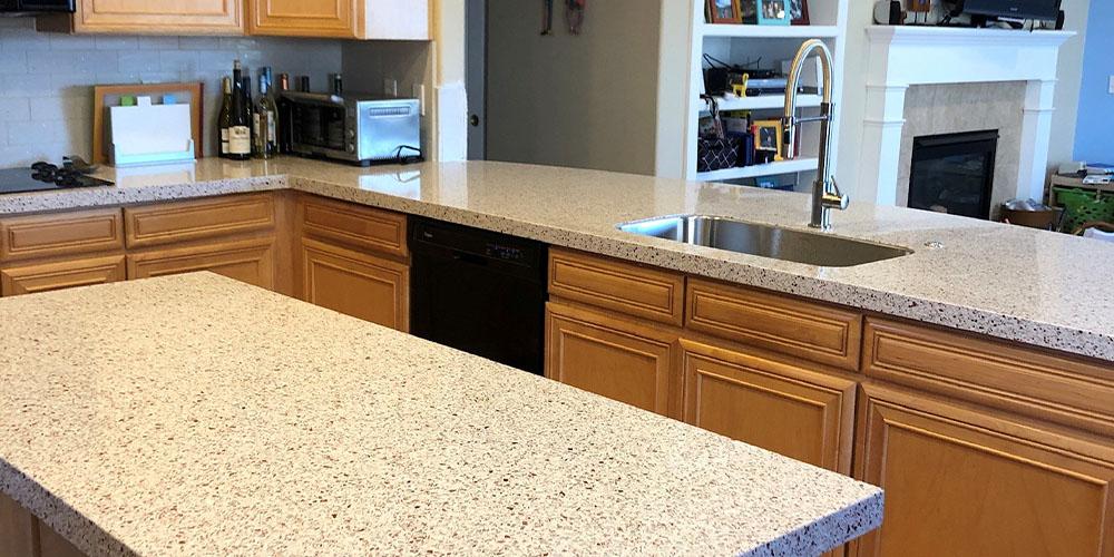 white copper kitchen countertops in Denver