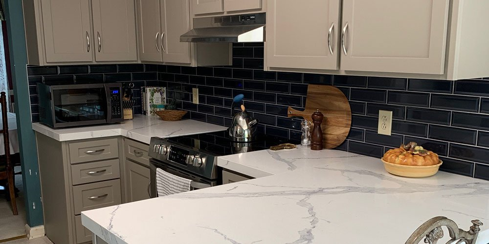 kitchen transformation with marble countertops
