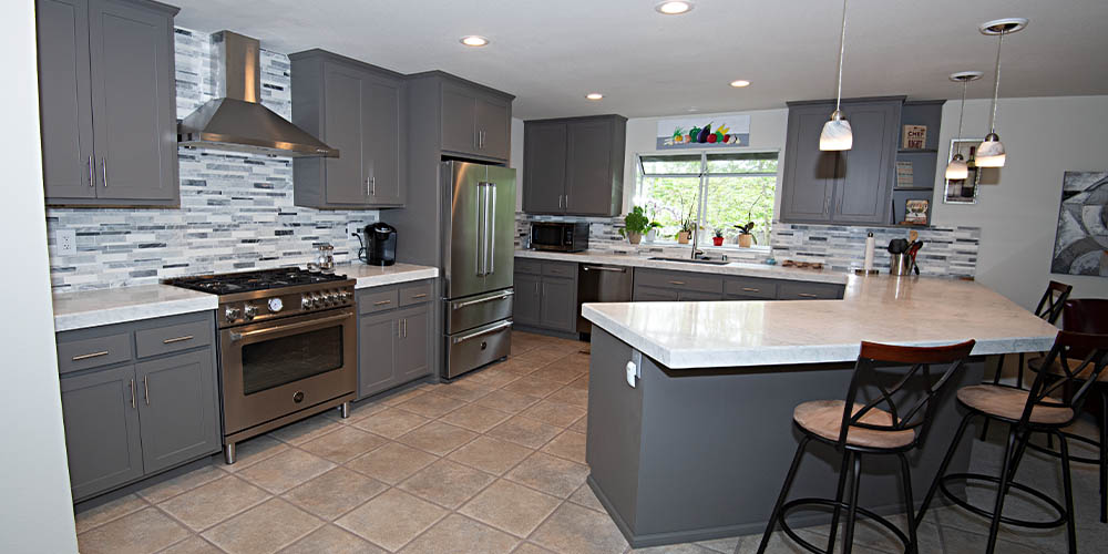 Style Tips For Grey Kitchen Cabinets Granite Transformations