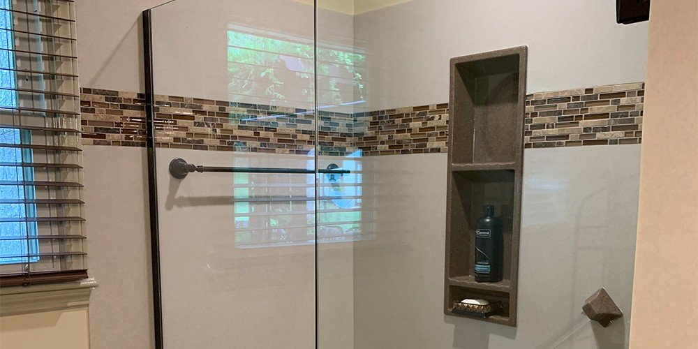 shower after complete bathroom renovation