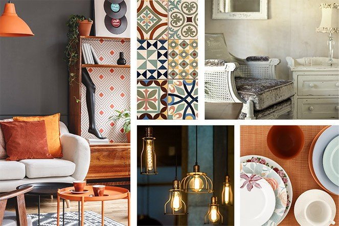 Eclectic style mood board