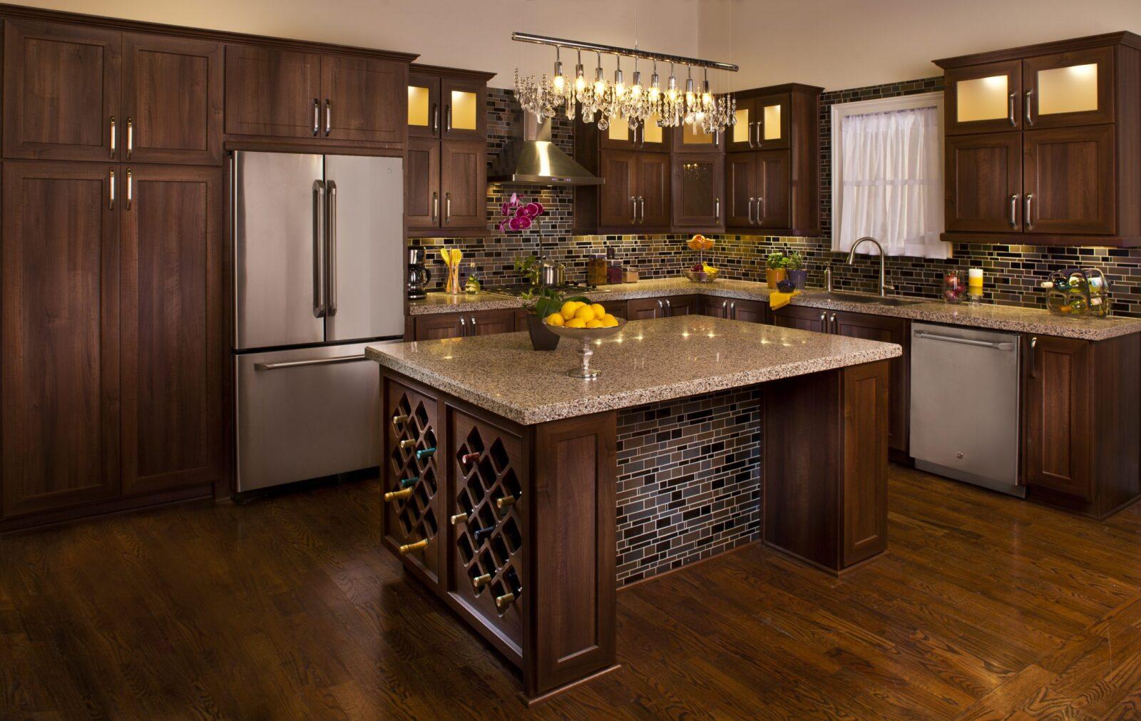 Brown kitchen remode