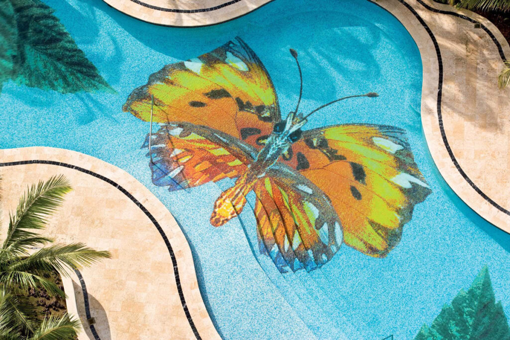mosaic butterfly pool design