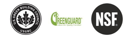 Granite Transformations is certified by U.S. Green Building Council, GREENGUARD and NSF