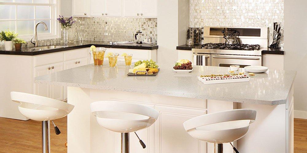 kitchen countertop and backsplash