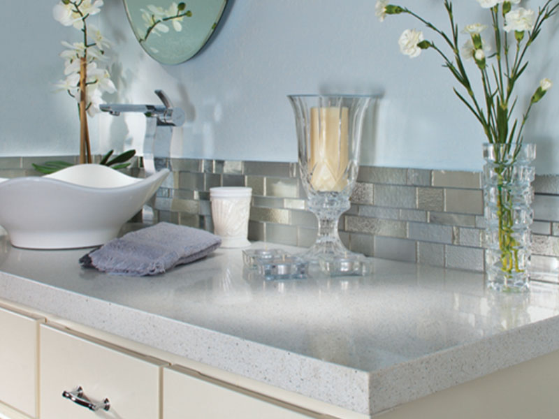 bathroom sink top with candle